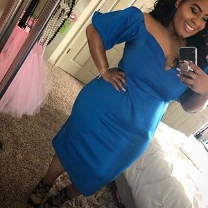 🚫 SOLD 🚫blue dress with puff sleeves